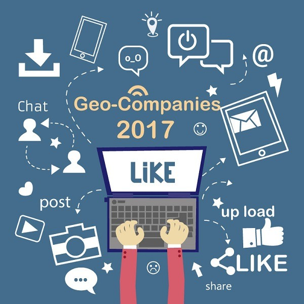 The Most Social Geo-Companies and Geo-Organizations for 2017