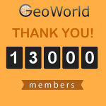 GeoWorld reached 13,000 registered members!
