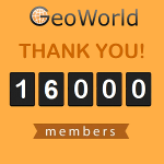 GeoWorld reached 16,000 registered members!