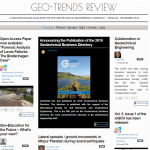 """Geo-Trends Review"" ninth issue is just published"